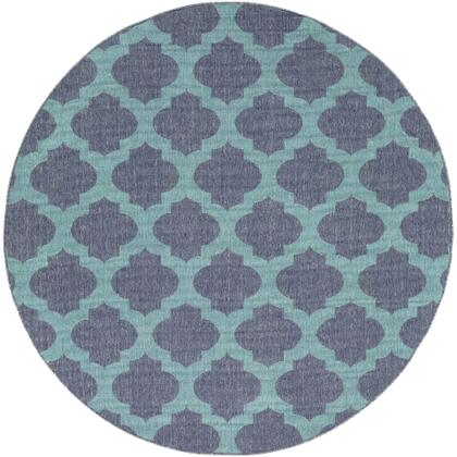 Alfresco ALF-9663 810 Round Cottage Rug in Charcoal