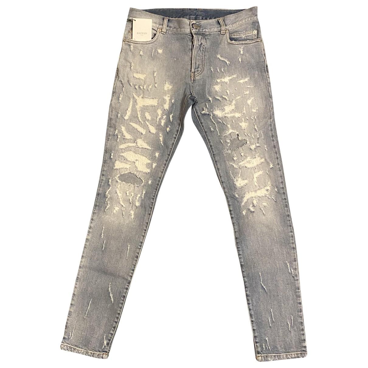 Balmain \N Blue Cotton - elasthane Jeans for Men 42 FR