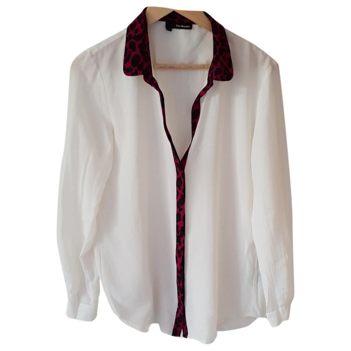 The Kooples N Ecru Silk  top for Women L International
