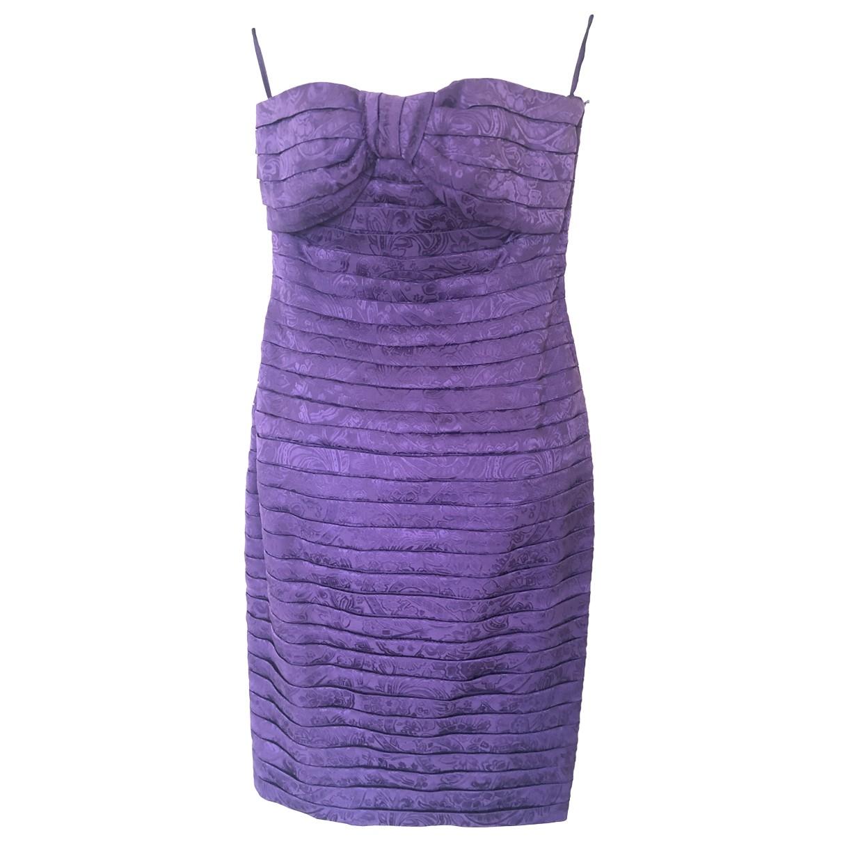 Lanvin \N Purple Silk dress for Women 38 FR