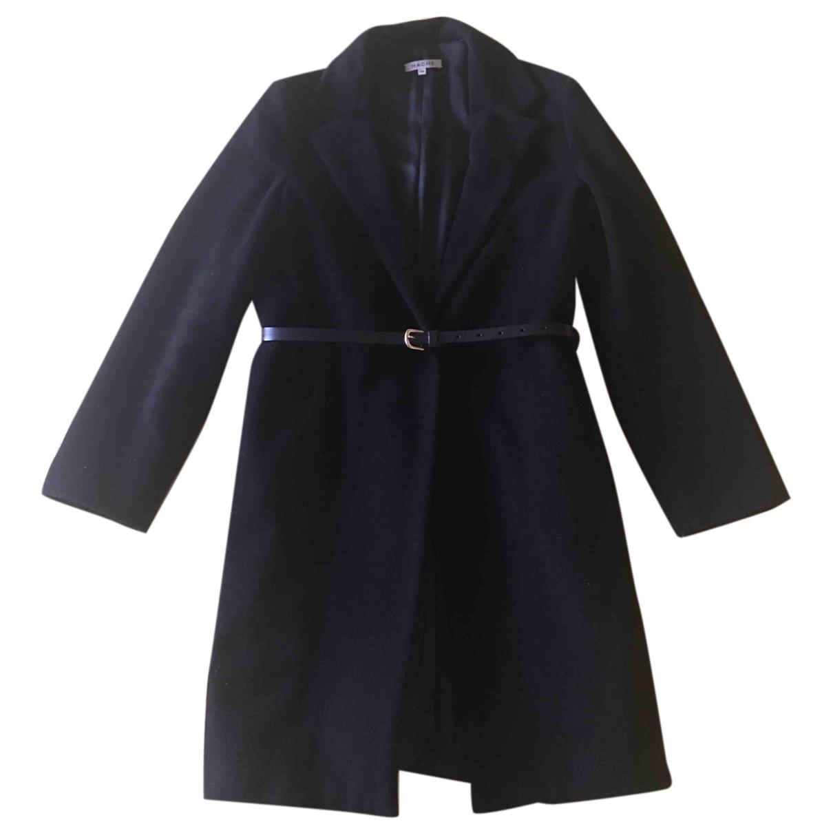 Hache - Manteau   pour femme en laine - noir