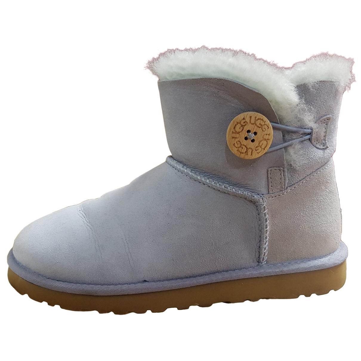 Ugg - Boots   pour femme en suede - turquoise