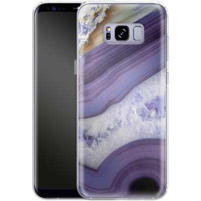 Samsung Galaxy S8 Plus Silikon Handyhuelle - Purple Agate von Emanuela Carratoni