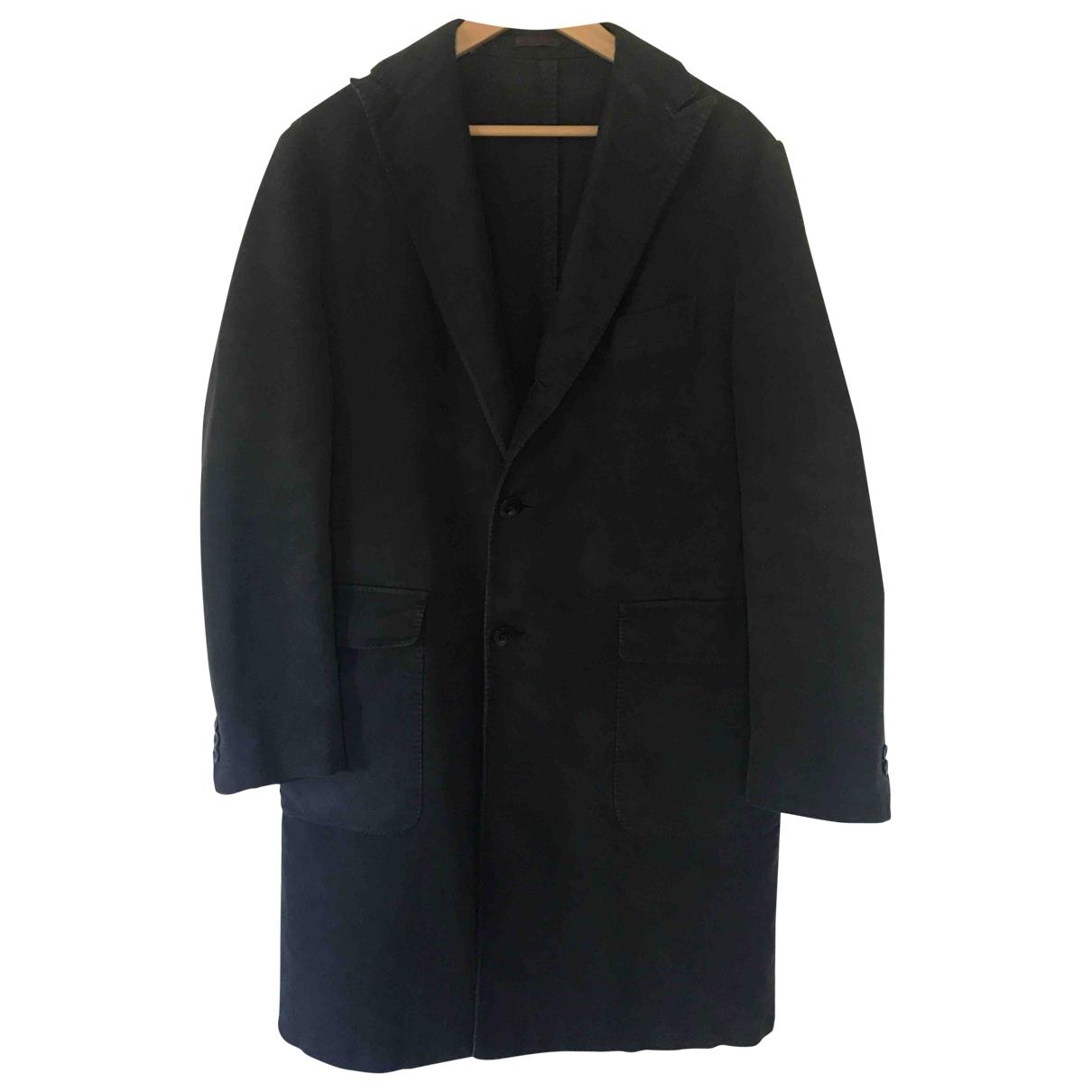 Etro \N Black Cotton coat  for Men 50 IT