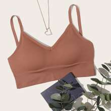 Ribbed Solid Bra