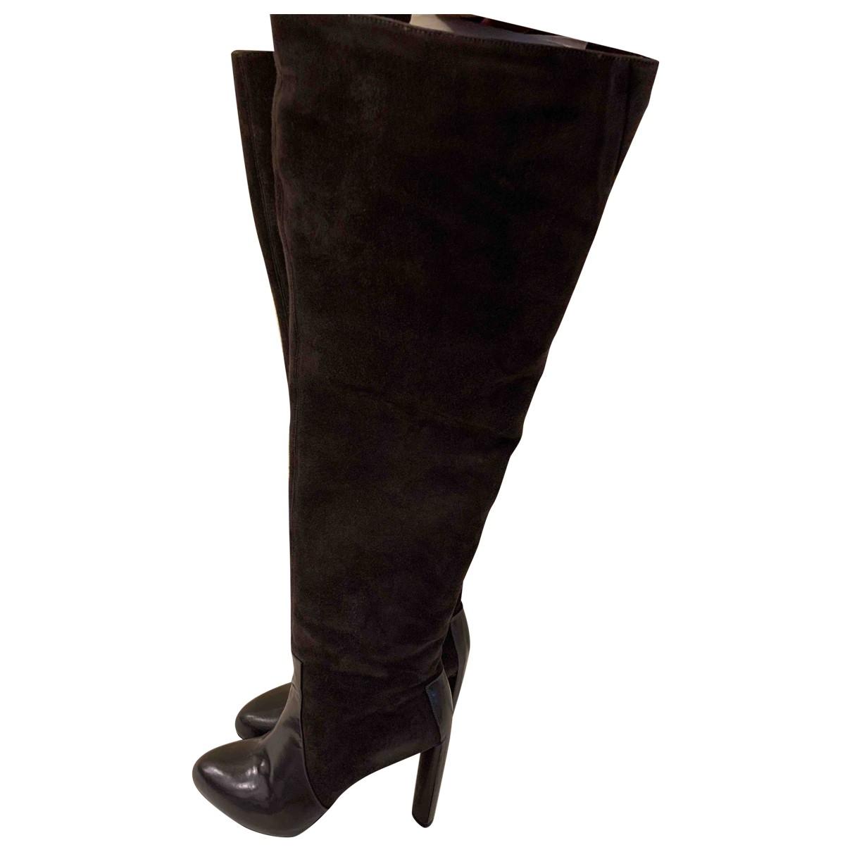 Celine \N Stiefel in  Grau Veloursleder