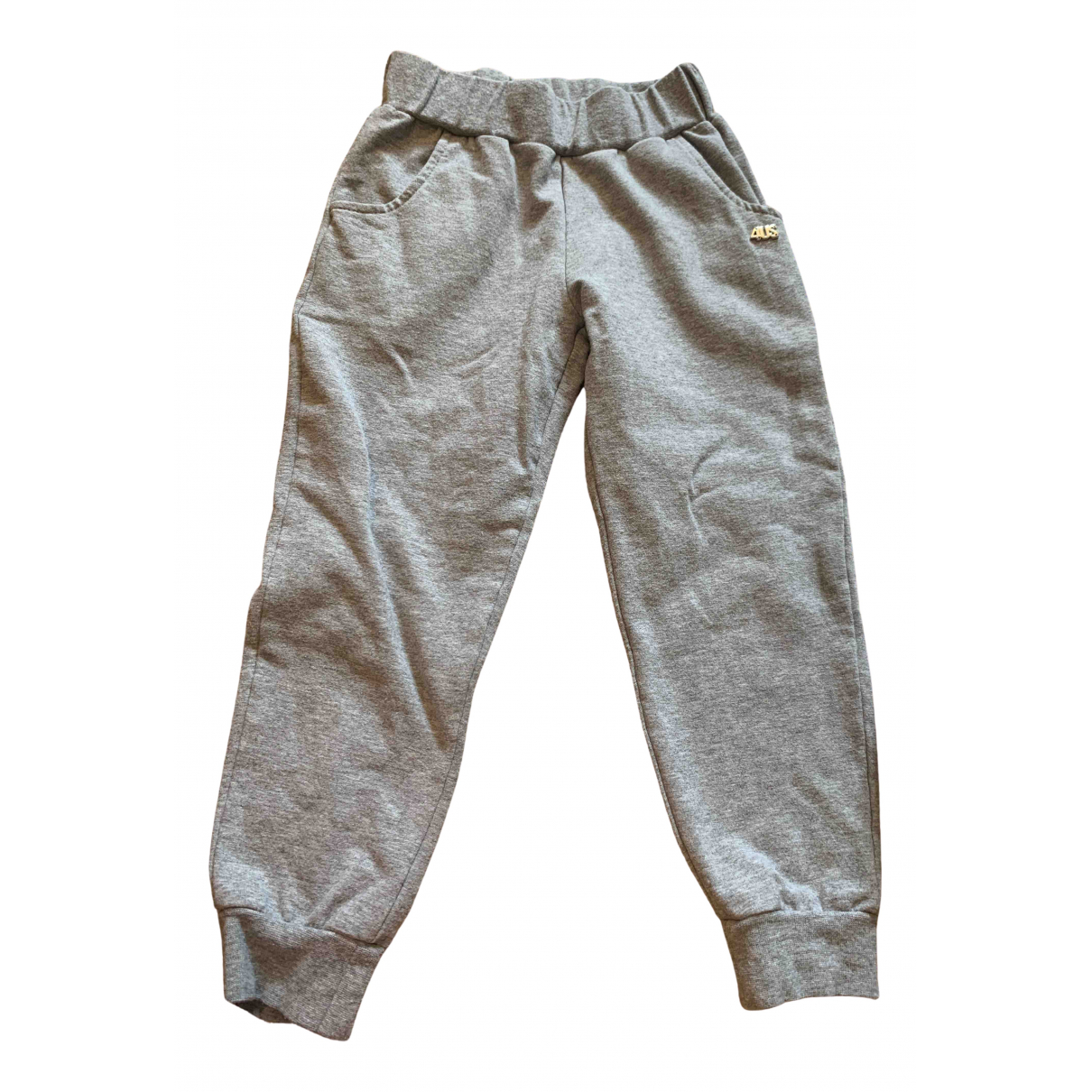 Cesare Paciotti \N Grey Cotton Trousers for Kids 4 years - up to 102cm FR