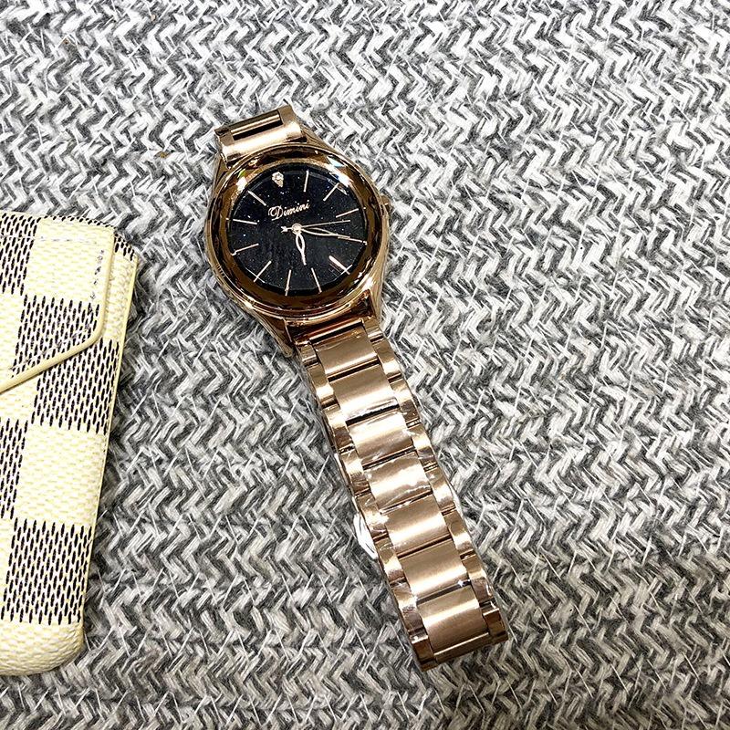Ericdress Steel Belt Circular Dial Women Watch