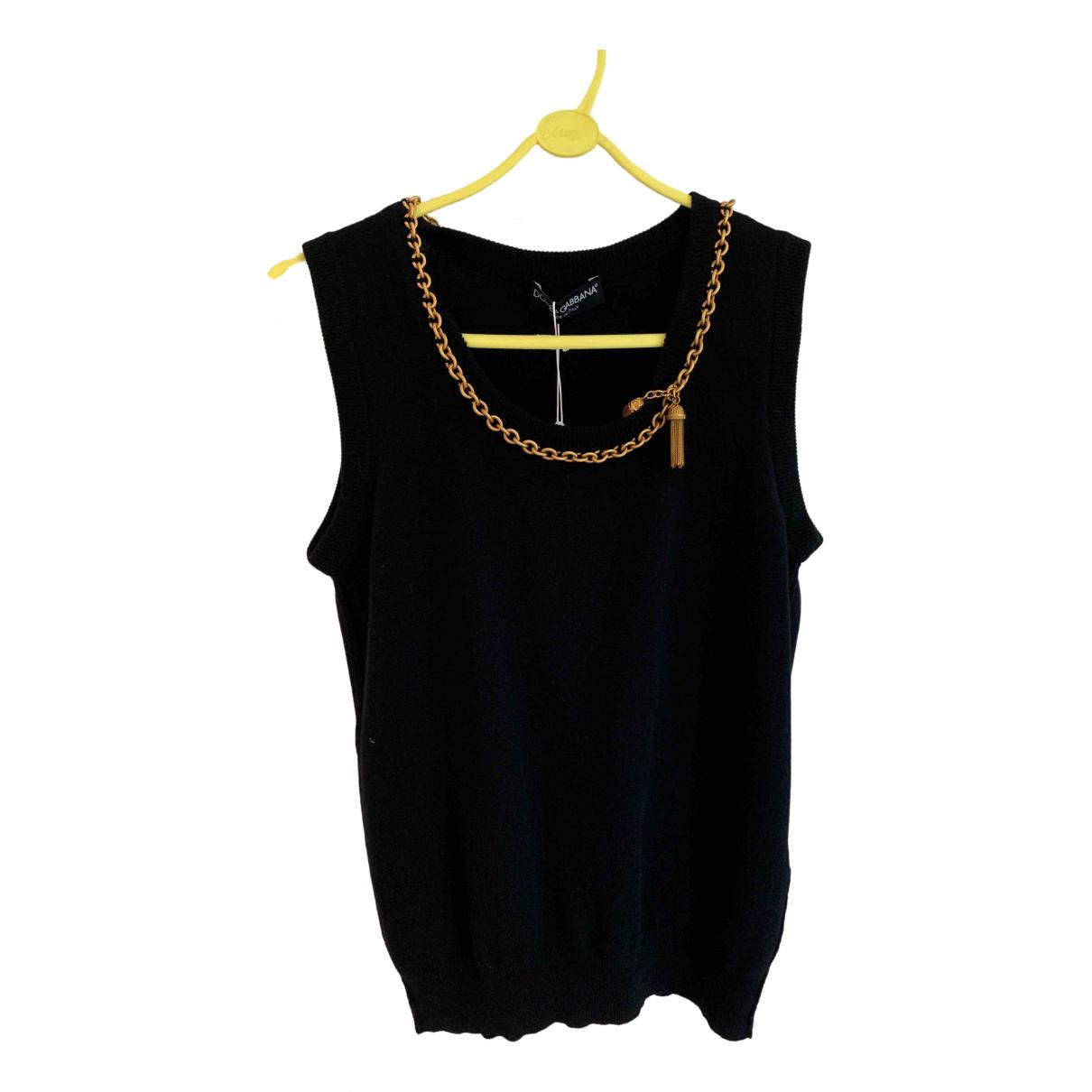 Dolce & Gabbana \N Black Cashmere  top for Women 12 UK