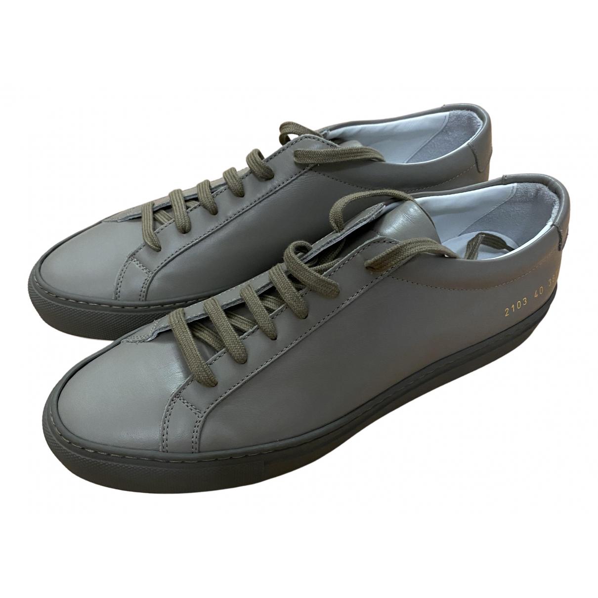 Common Projects - Baskets   pour homme en cuir - gris
