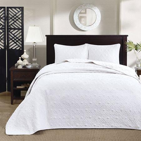 Madison Park Mansfield Bedspread Mini Set, One Size , White