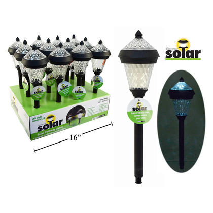 Outdoor Solar LED Light Stake for Patio/Lawn/Yard/Driveway/Walkway Decor, 15