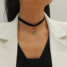 Weihnachten Halskette mit Kranz Dekor
