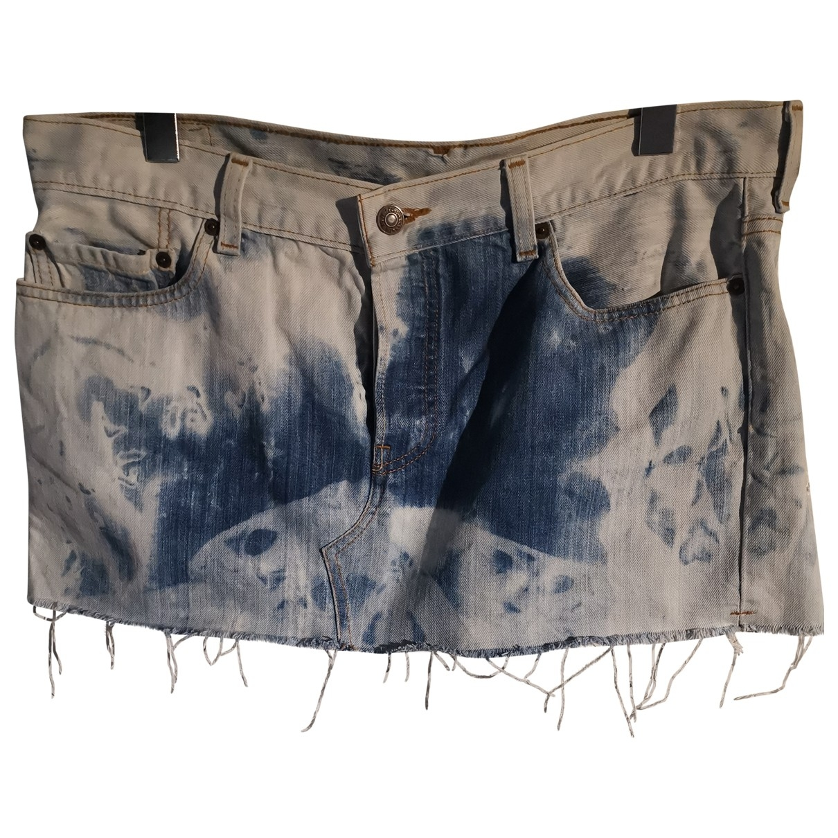 Levi's \N Blue Cotton skirt for Women 42 FR