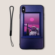 Astronaut iPhone Case With Lanyard