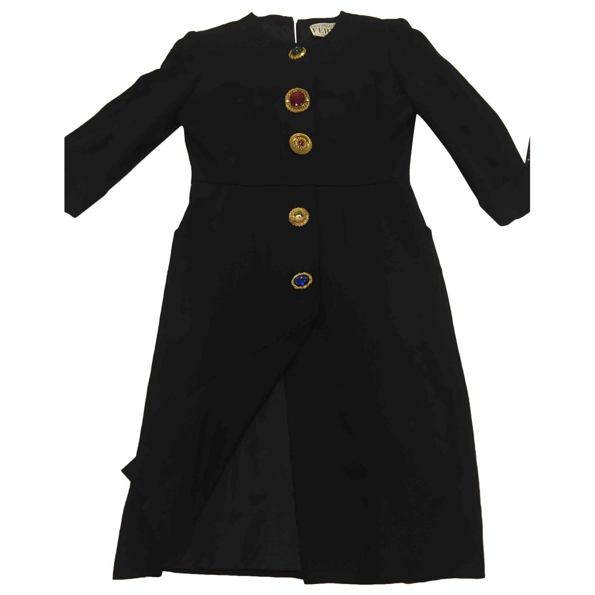 Gianfranco Ferre - Robe   pour femme en laine - noir