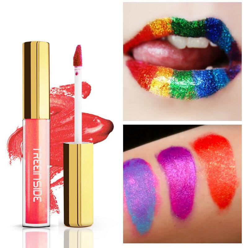 Mermaid Liquid Lipstick Colorful Glitter Lip Gloss Long Lasting Lips Makeup