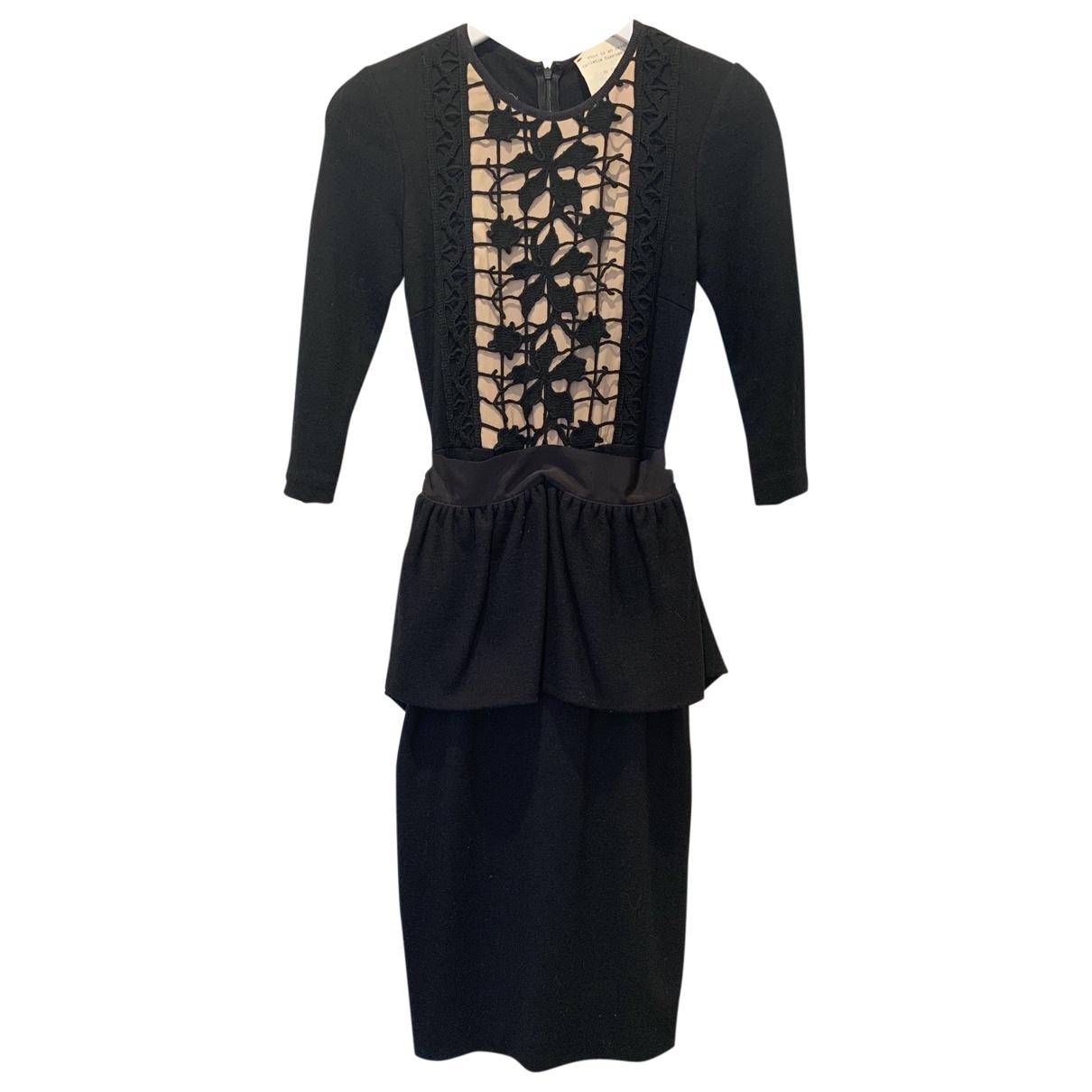 Collette Dinnigan \N Black Wool dress for Women 8 UK
