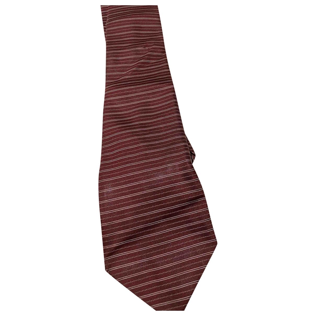 Canali \N Krawatten in  Rot Seide