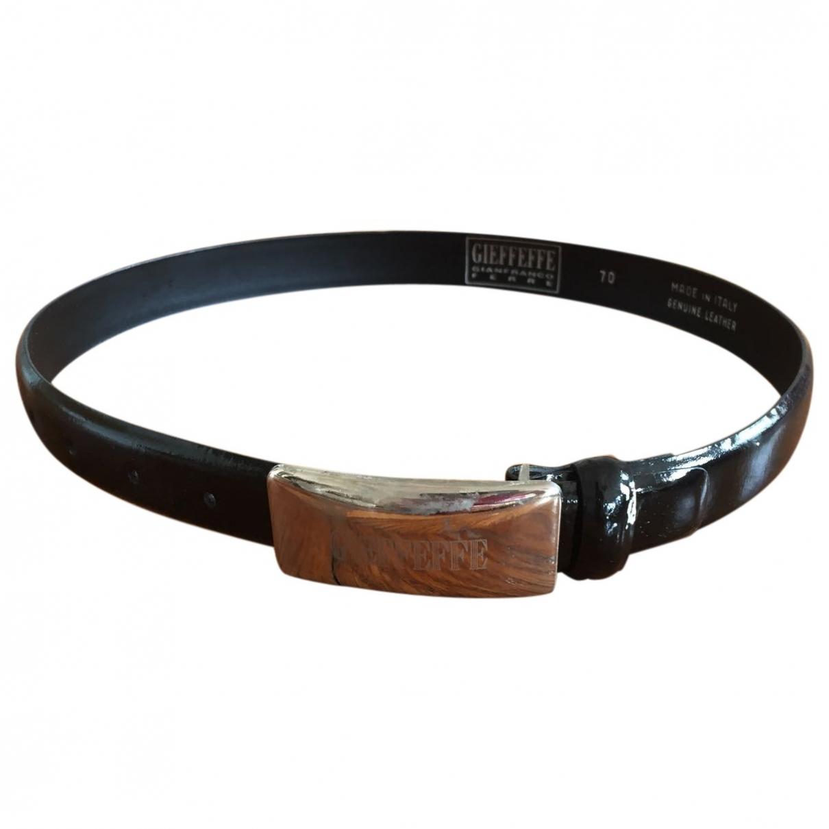 Gianfranco Ferré \N Black Patent leather belt for Women 70 cm