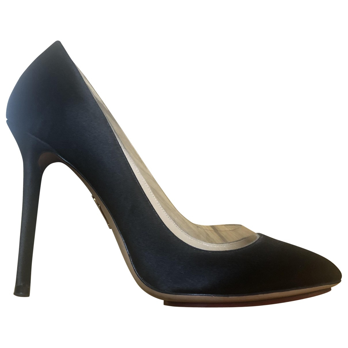 Charlotte Olympia N Black Cloth Heels for Women 38 EU