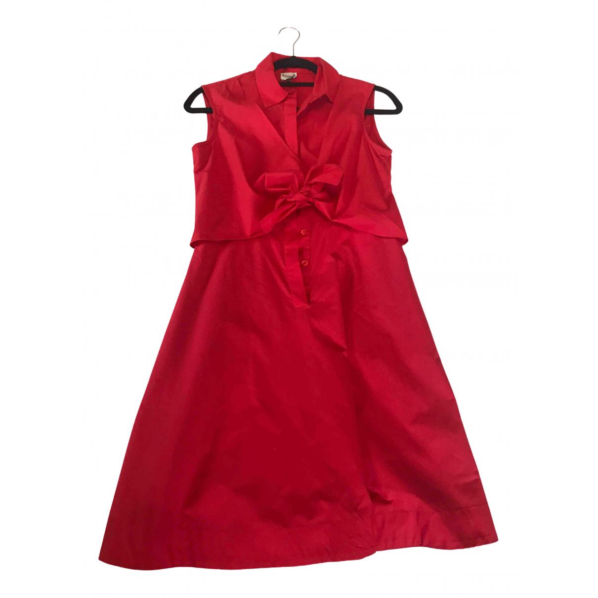 Adolfo Dominguez \N Kleid in  Rot Leinen
