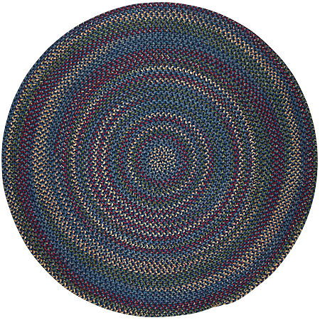 Colonial Mills Andreanna Reversible Braided Round Rug, One Size , Blue