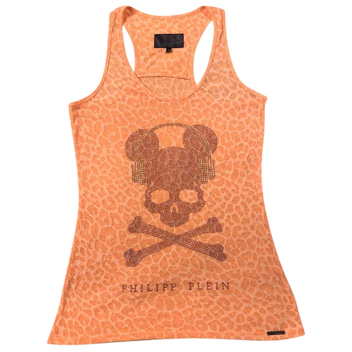 Philipp Plein - Top   pour femme en coton - orange
