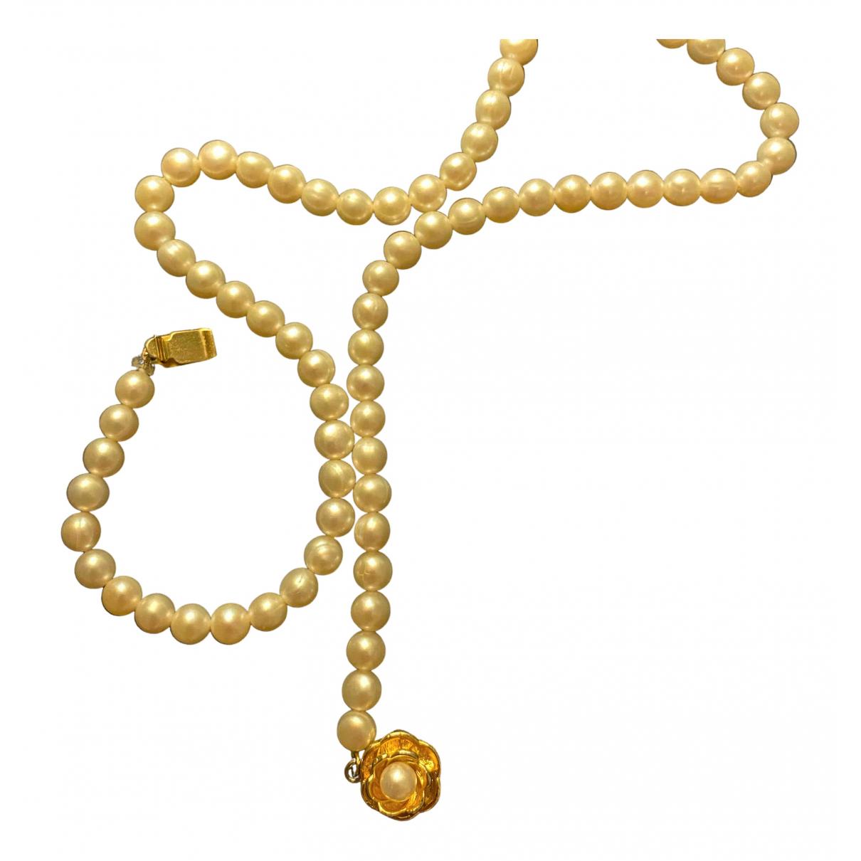 - Sautoir   pour femme en perles - dore