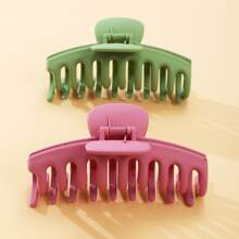 2pcs Solid Hair Claw