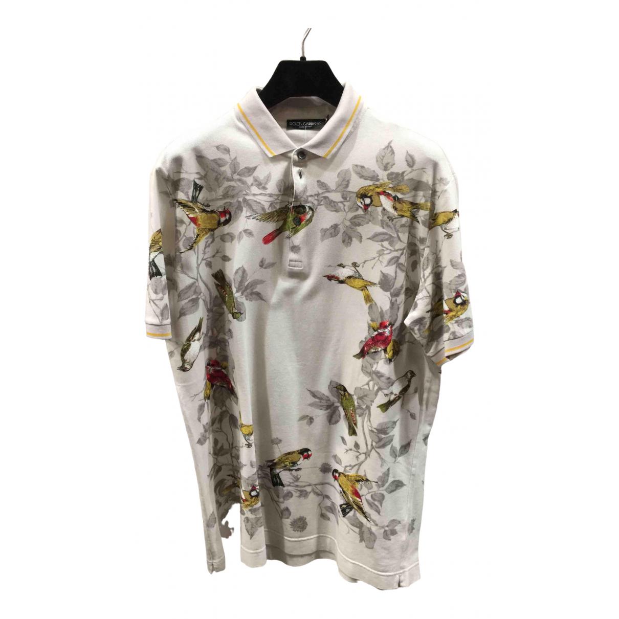 Polo en Algodon Beige Dolce & Gabbana