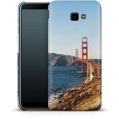 Samsung Galaxy J4 Plus Smartphone Huelle - Golden Gate Galore von Omid Scheybani