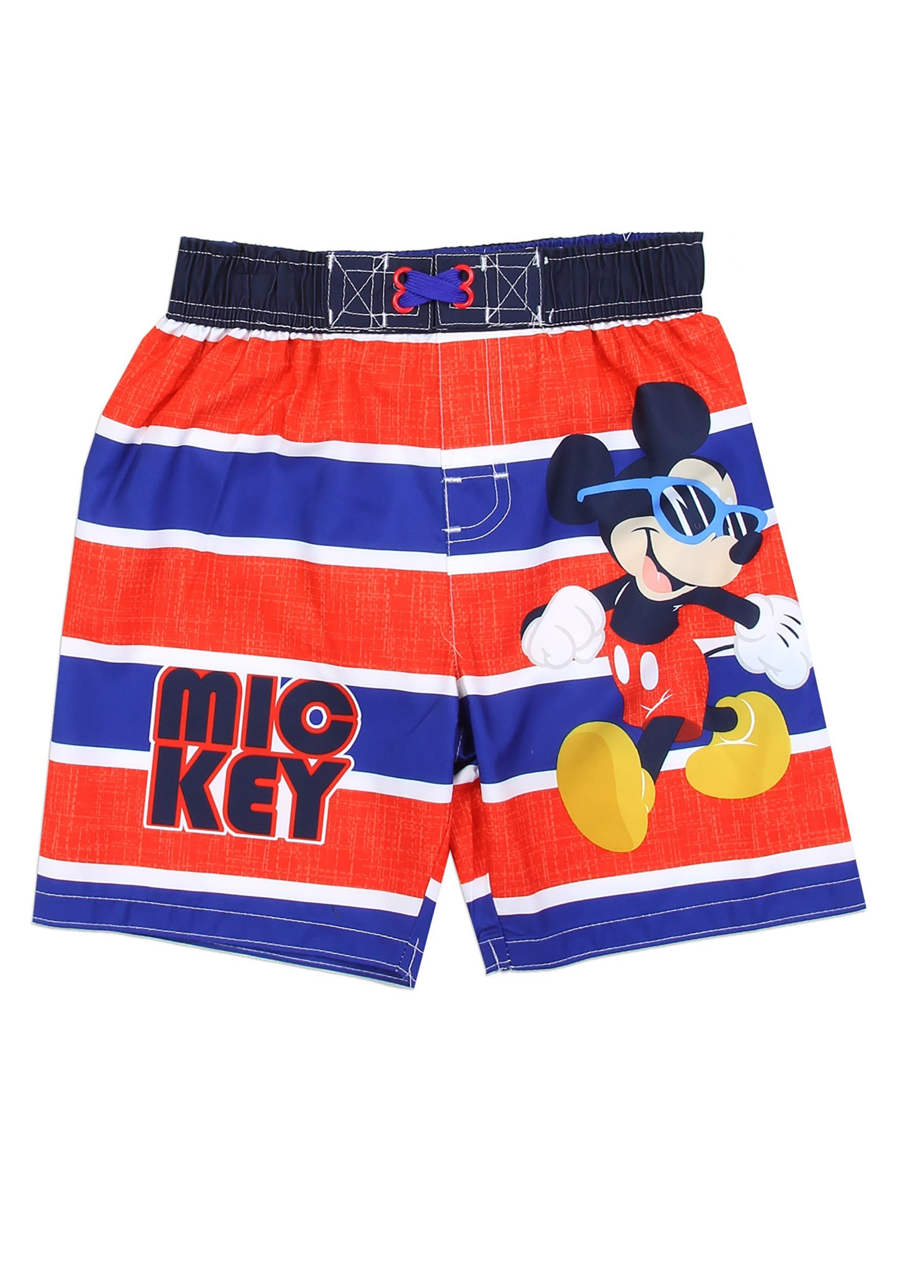 Boys Mickey Mouse Toddler Swim Shorts