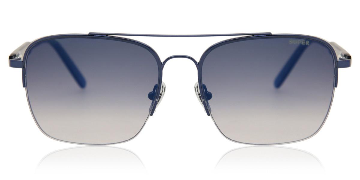 Retrosuperfuture Adamo FadEISM Blue I9NJ 2LP Men's Sunglasses Blue Size 56
