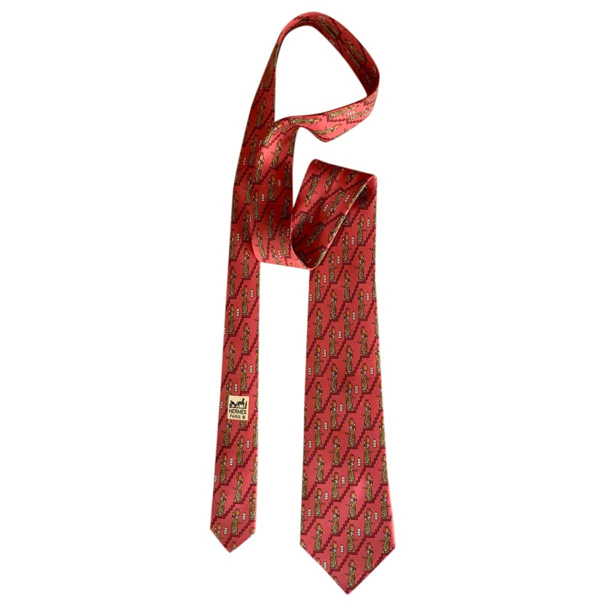 Hermes \N Krawatten in  Orange Seide