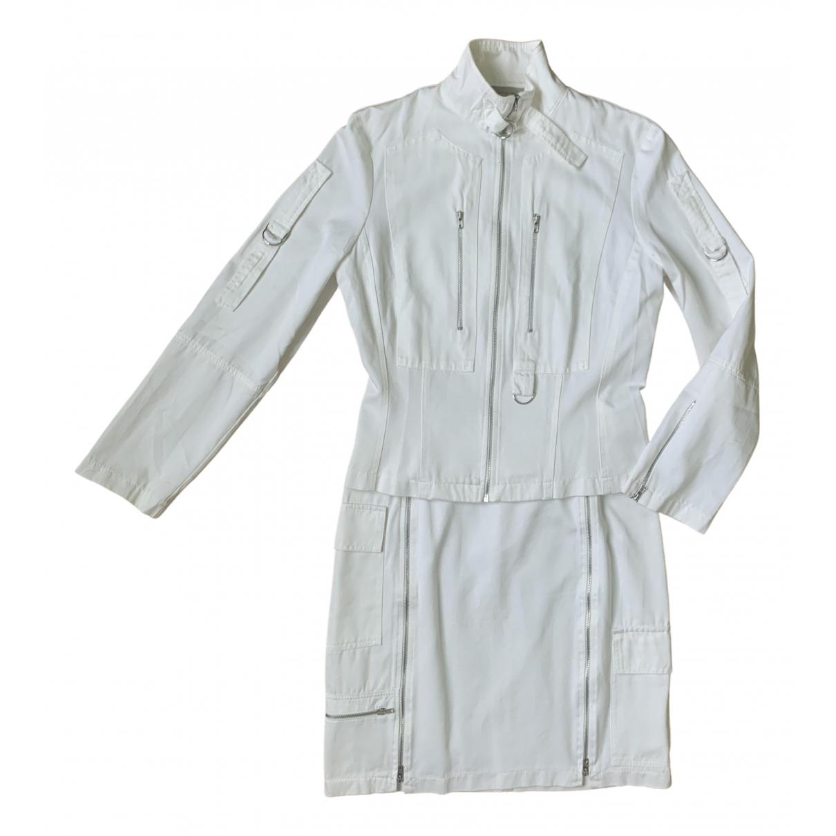 - Jupe   pour femme en coton - blanc