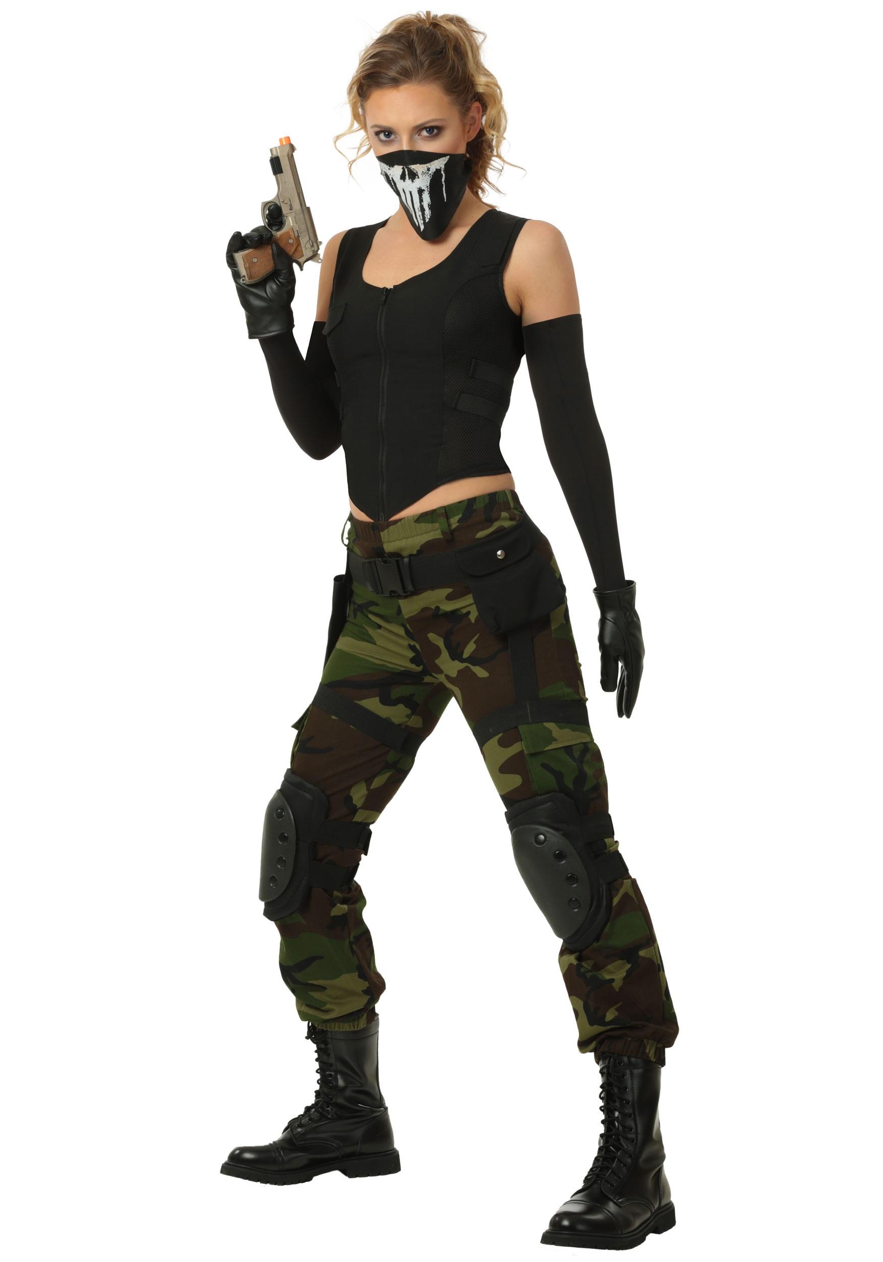 Women's Fighting Soldier Costume