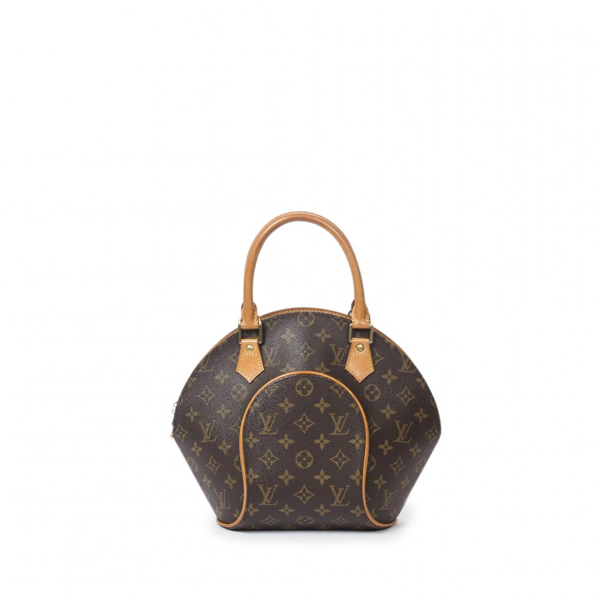 Louis Vuitton - Sac a main Ellipse pour femme en coton - marron