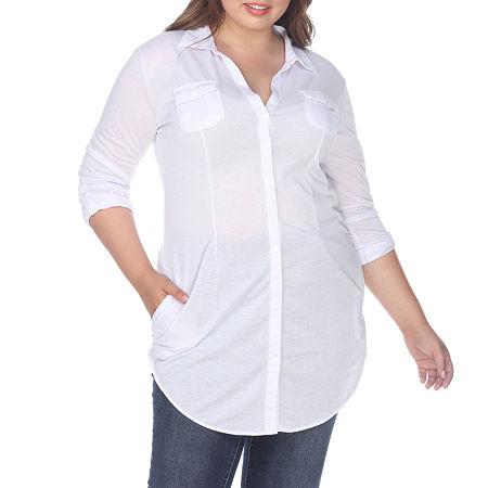 White MarkLakota Stretchy Tunic - Plus, 1x , White