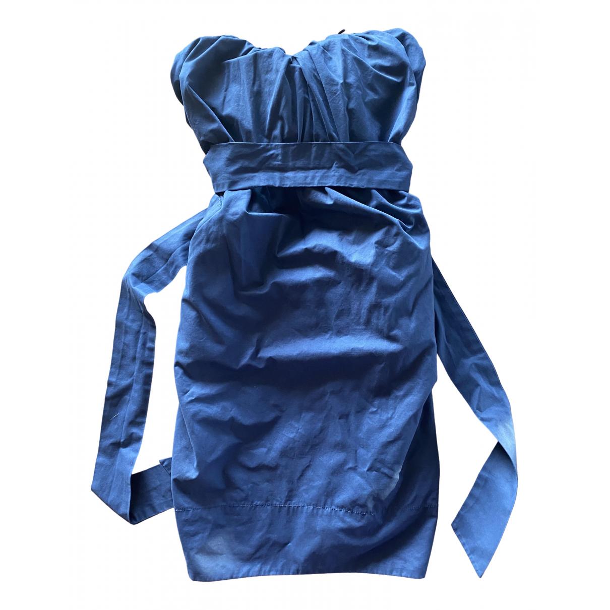 All Saints \N Kleid in  Blau Polyester