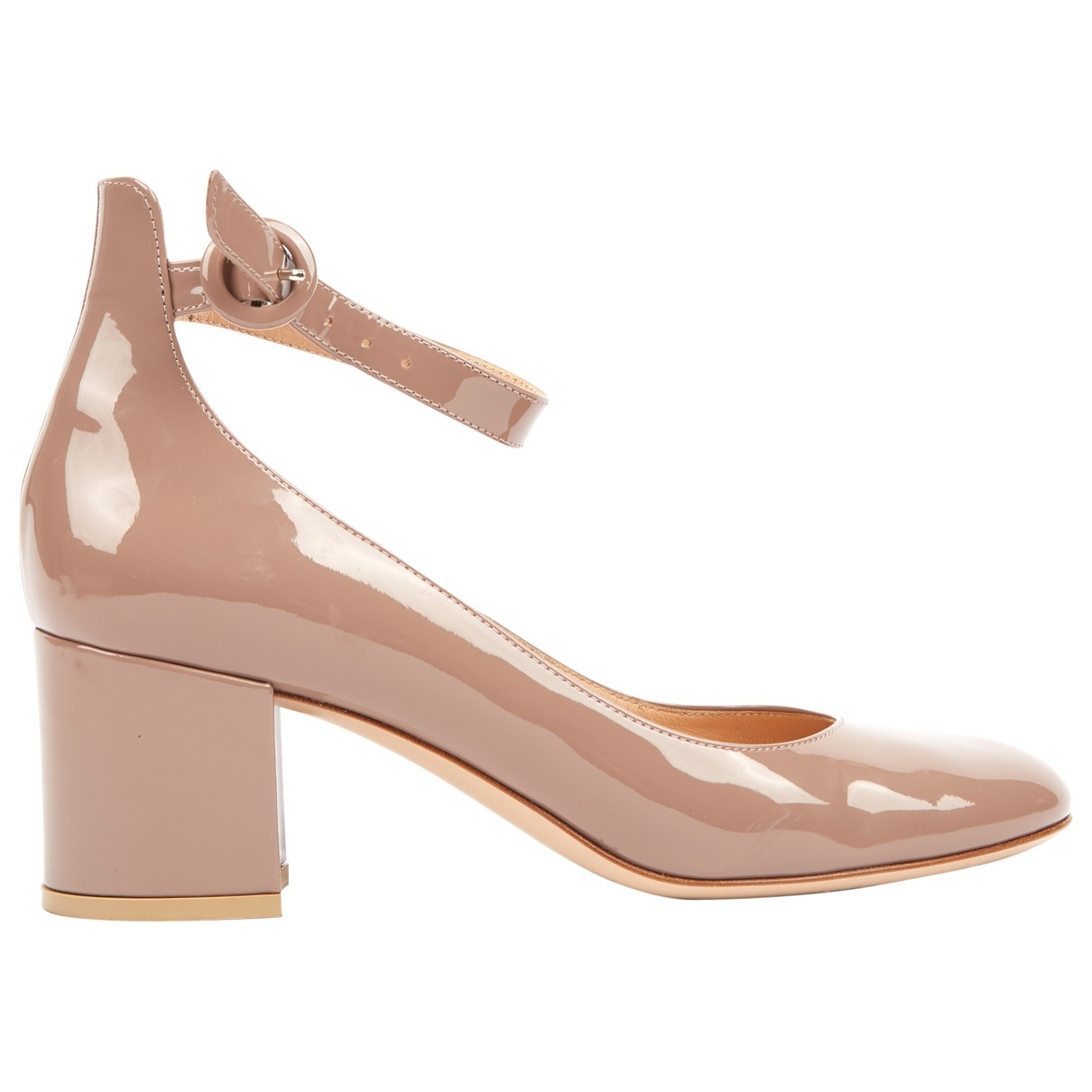 Gianvito Rossi \N Pink Patent leather Mid heel for Women 38 EU