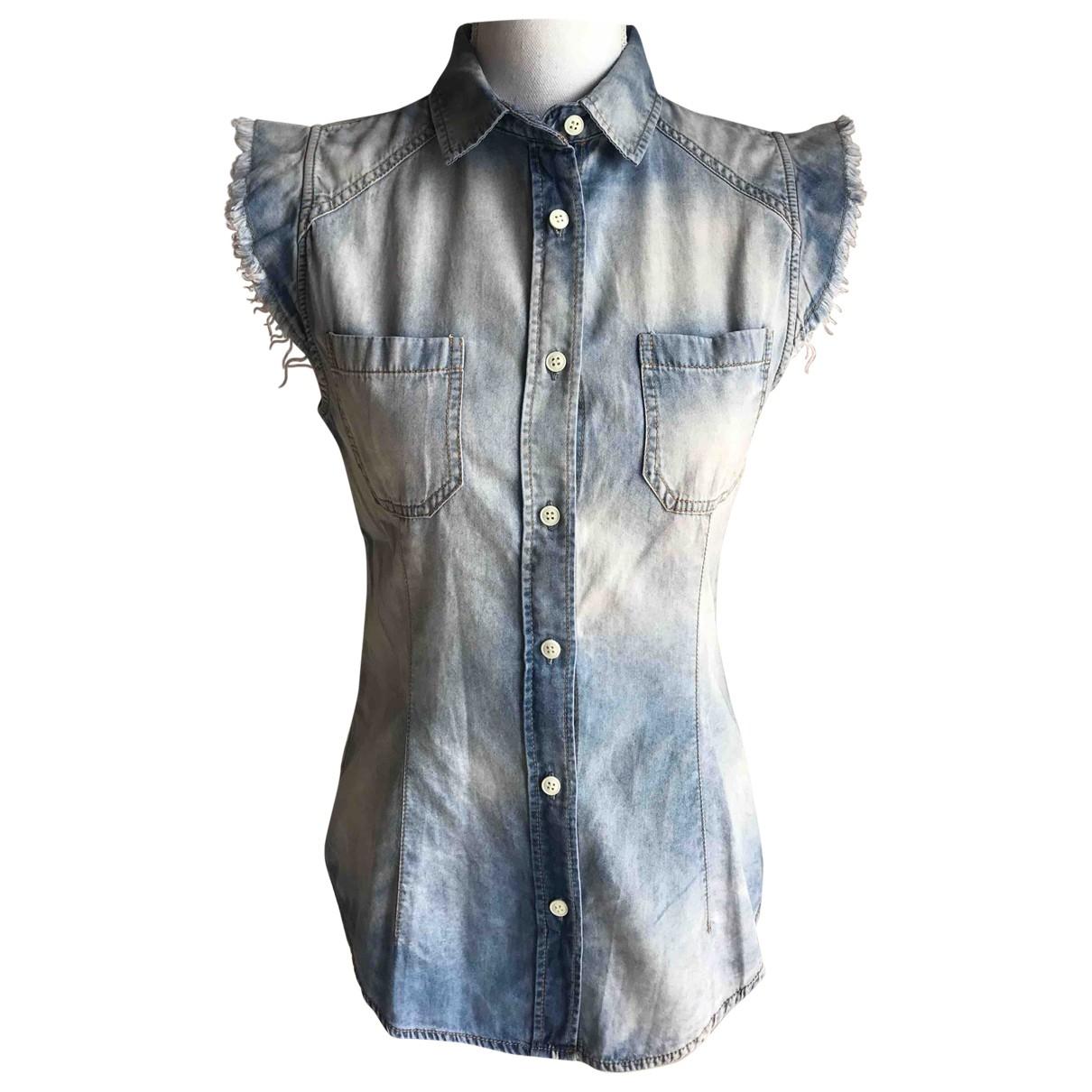 Imperial - Top   pour femme en coton - bleu