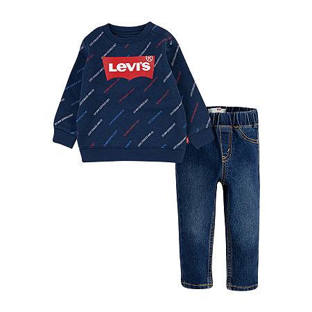 Levi's Baby Boys 2-pc. Pant Set, 24 Months , Blue