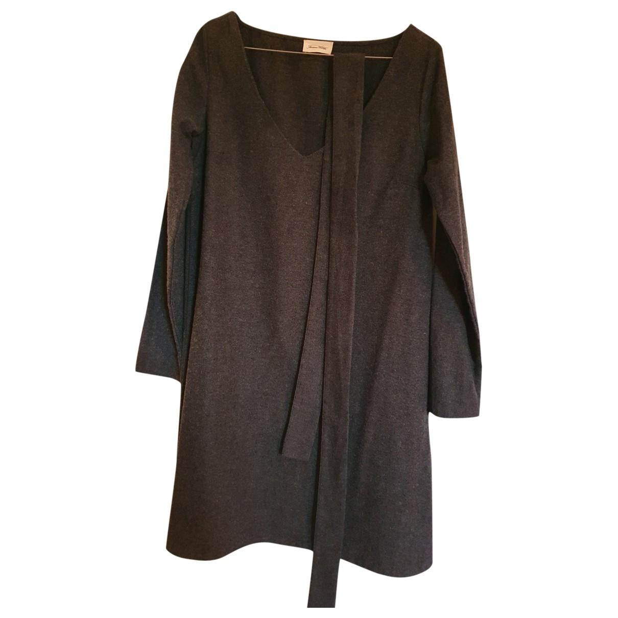 American Vintage - Robe   pour femme en coton - anthracite