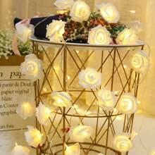 10 piezas luz de cuerda con diseño de rosa  arificical