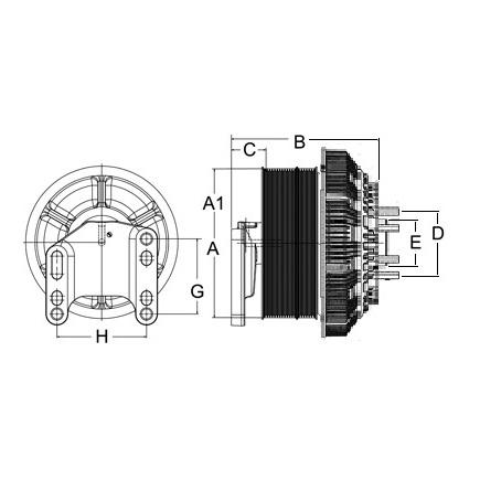 Horton 79A9809-2 - Clutch Drive Master Assembly 2 Speed Se 24 Reman...