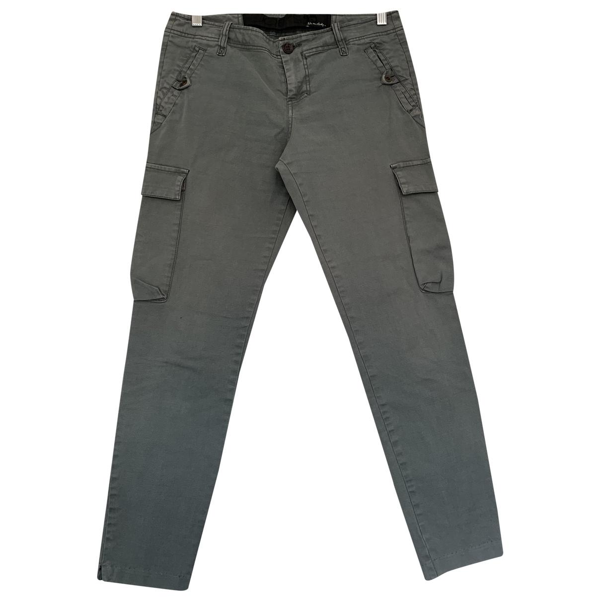 Joe's \N Blue Cotton Trousers for Women 10 UK