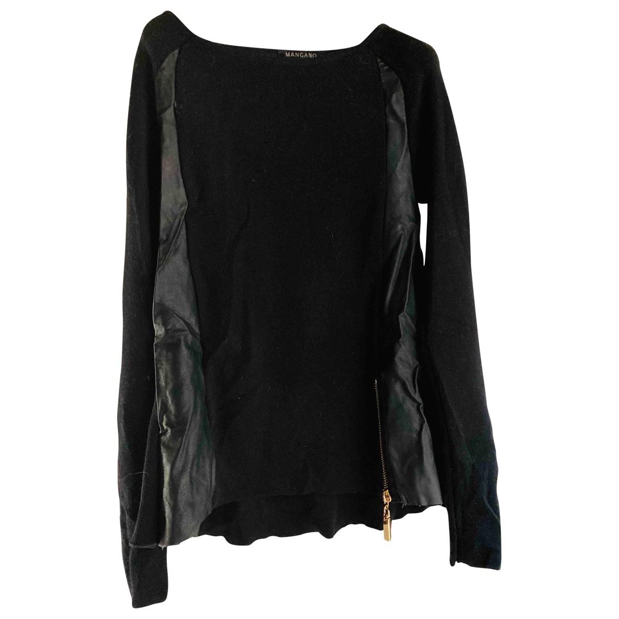 Mangano \N Pullover in  Schwarz Wolle