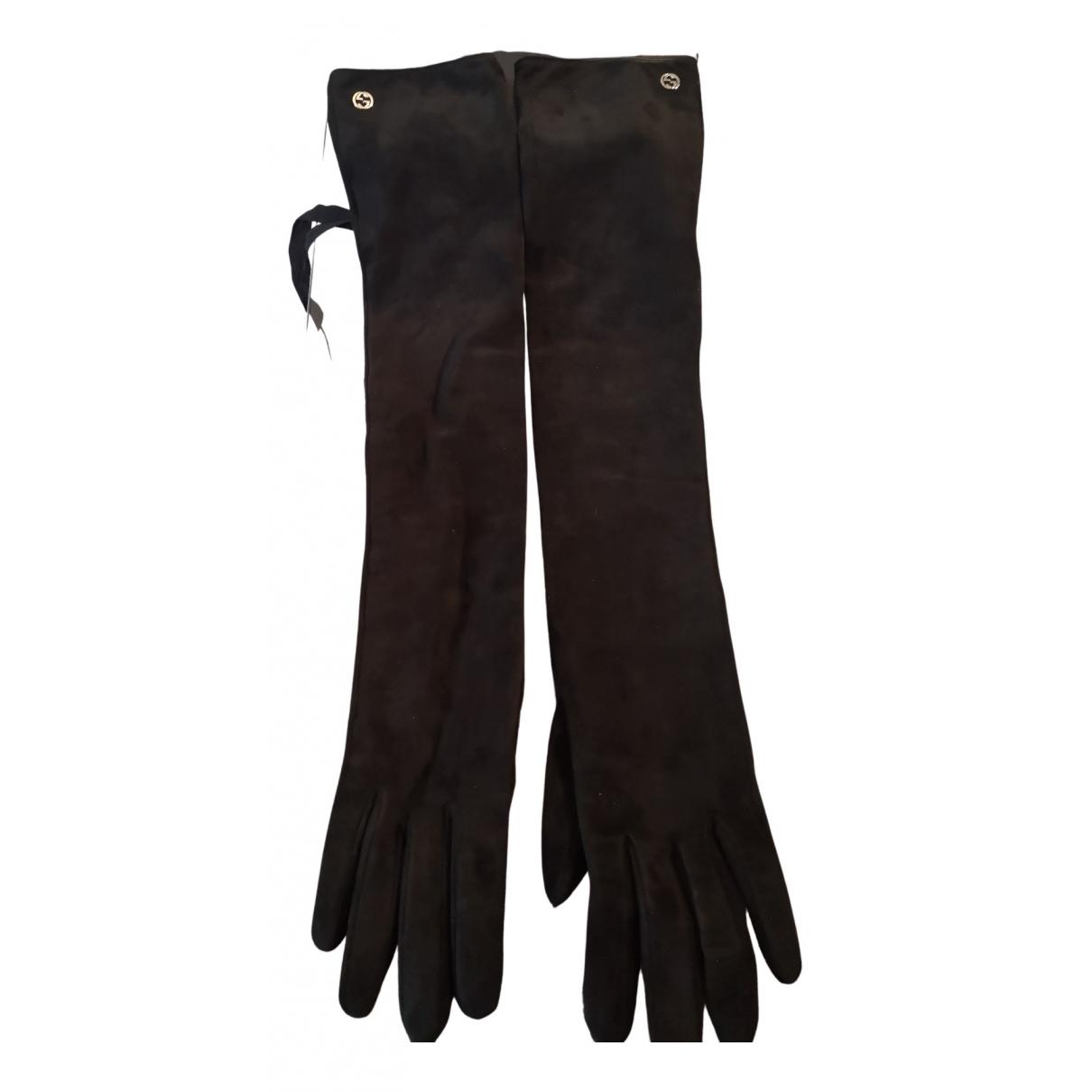 Gucci \N Handschuhe in  Schwarz Veloursleder