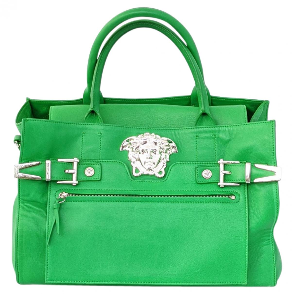 Versace - Sac a main   pour femme en cuir - vert
